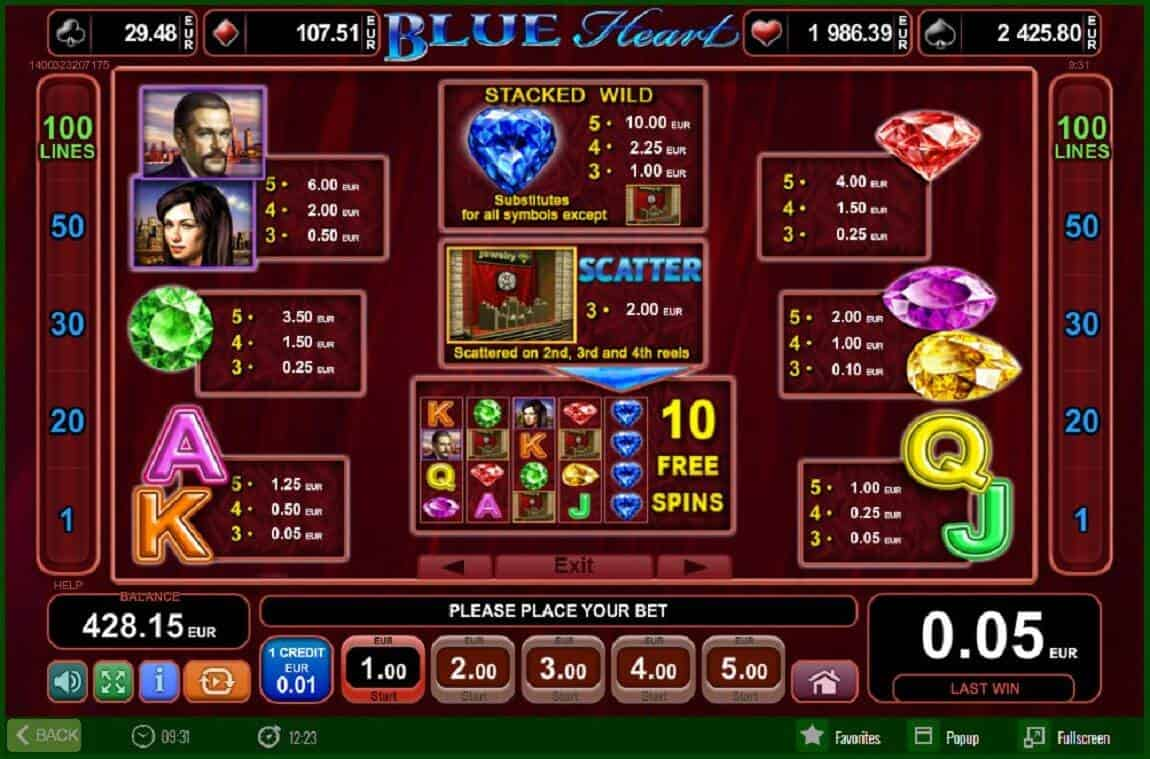 online casino germany blue heart