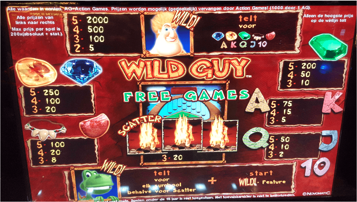 wild guy novomatic slot