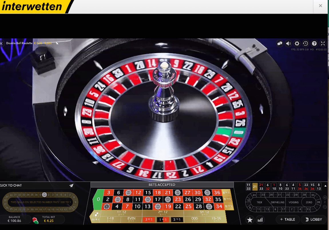 Double Ball roulette screenshot