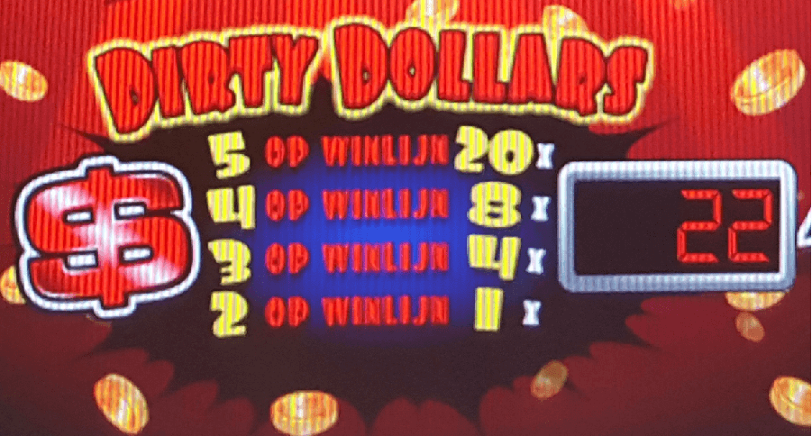 Dirty Dollars wild wild win