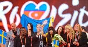 Eurovisie songfestival (By Vugarİbadov (Own work) [CC BY-SA 3.0 (http://creativecommons.org/licenses/by-sa/3.0)], via Wikimedia Commons)