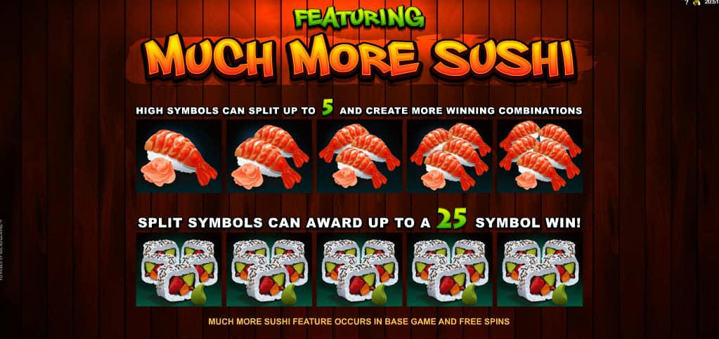 Uitleg feature online slot So Much Sushi