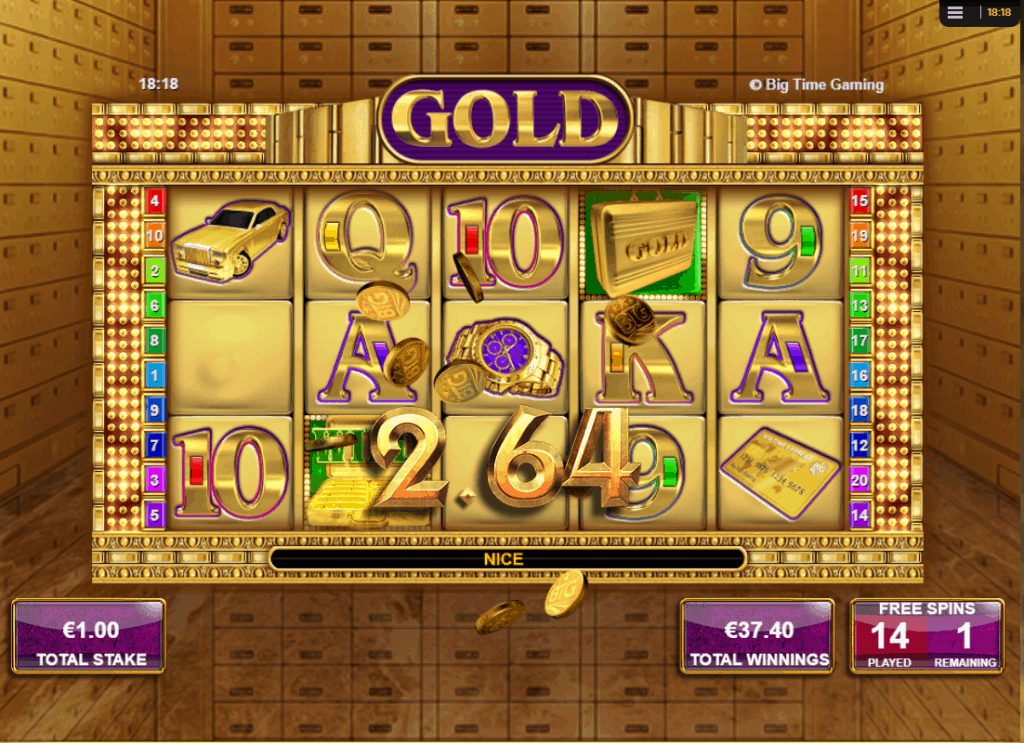 Gold free spins win